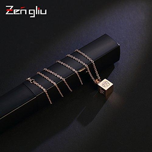 Anhänger Rose Gold Halskette, schlüsselbein Kette Dekoration Damen Halskette