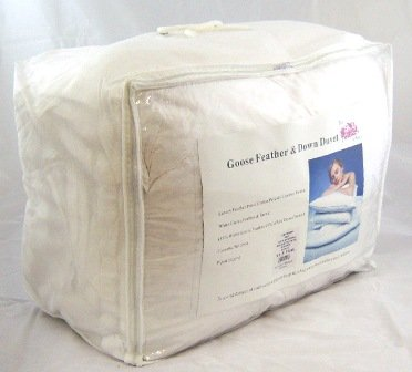 Double Bed All Seasons Luxury Natural White Goose Feather & Down 13.5 TOG Duvet - 4.5 Tog + 9 Tog = 13.5 Tog