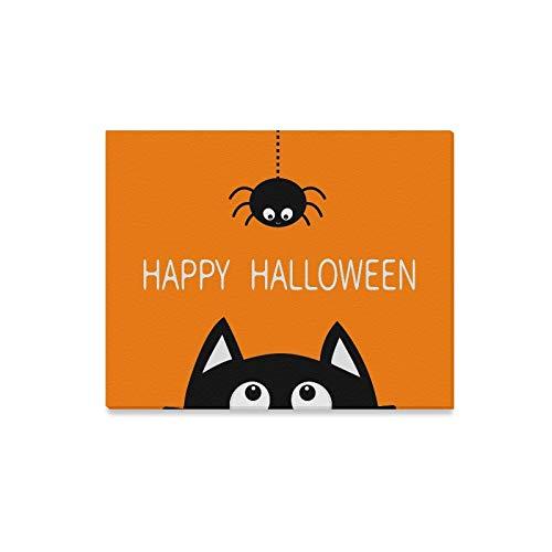 Wandkunst Malerei Happy Halloween Schwarze Katze Gesicht Kopf Drucke Auf Leinwand Das Bild Landschaft Bilder Öl Für Zuhause Moderne Dekoration Druck Dekor Für Wohnzimmer