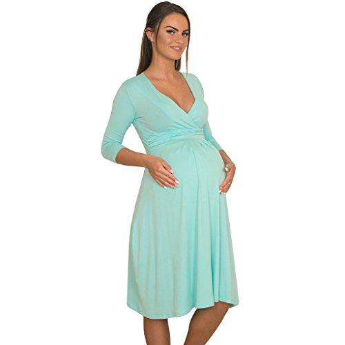 JuicyPeach Maternity - Robe spécial grossesse - Trapèze - Femme Vert menthe