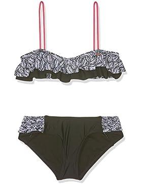 O 'Neill niña Morro Ruffle Bikini Bikinis, niña, Morro ruffle bikini, Black Aop with White, 164