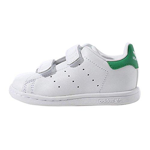 adidas Originals Stan Smith CF Unisex Baby Lauflernschuhe Weiß (Ftw Weiß/Ftw Weiß/Grün)
