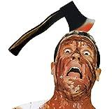 Inception Pro Infinite Stirnband für Haare mit AXT - AXT - Blutiger Effekt - Zombie - Horror - Verkleidung - Halloween - Karneval