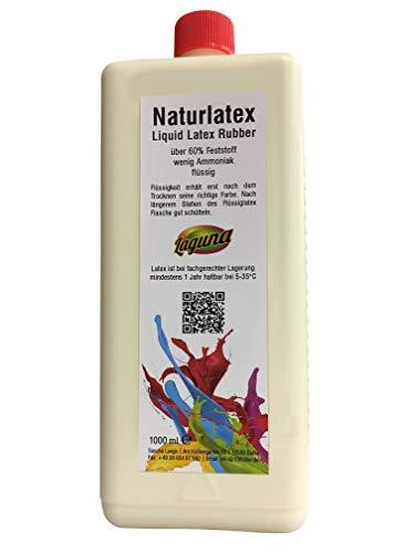Flüssiglatex 1 Liter liquid latex Latexmilch, naturfarben, 1000ml Naturgummi flüssig, Latex, Gummimilch, Sockenstopp, Halloween, Masken, Wunden, Narben