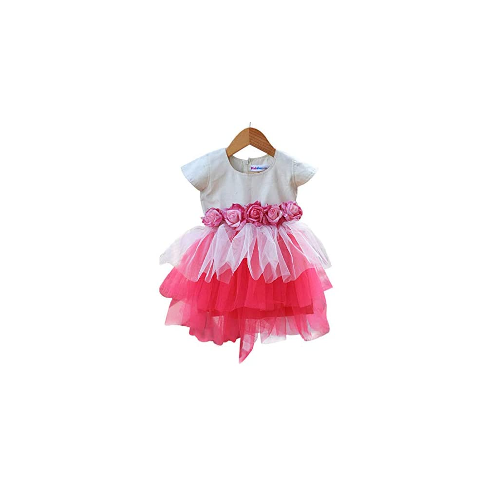 87d3c64e4177 PinkBlue India Baby Girl Party Wear Frock Kids Birthday Dress Pink White
