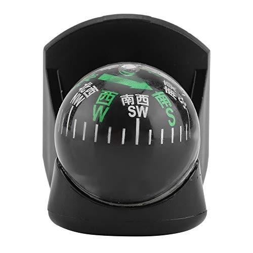 Garosa Auto Kompass Ball Fahrzeug Tragbar Boots LKW Navigations Leitfaden Digital Schwarz Einfach Installieren Fahrzeuginnenraum Armaturenbrett Führung Richtung (Automobil-digital-kompass)