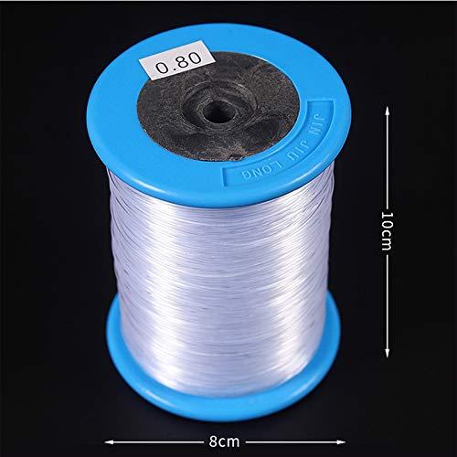 SINOTECHQIN 260m / Rolle 0.8mm Nylon-Fisch-Linie No-Elastisches Transparentes Thread Spool, Das Schnur bördelt