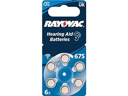 32220Rayovac 675Zink-Luft Akustik Akku, Quecksilber Frei (Pack von 6) - 675 Zink-luft
