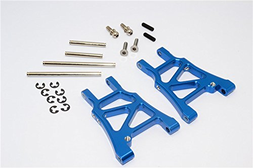HPI Sprint 2 Tuning Teile Aluminium Rear Arm With Screws & Pins & E-Clips - 1Pr Set Blue - Eclip-pin