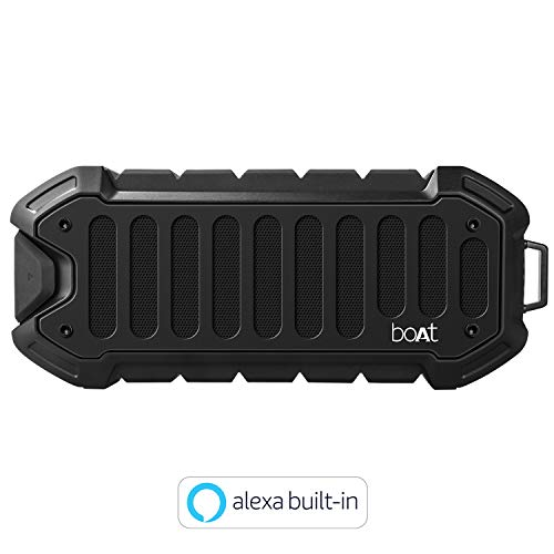 boAt Stone 700A Water Proof and Shock Proof Portable Smart Speaker with Alexa (Rugged Black)