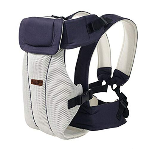 0 Bis 30 Monate Tragetuch Atmungsaktiv Ergonomische Babytrage Vorne Tragen Kinder Känguru Säuglingsrucksack Tasche Warp Hüftsitz,Darkblue