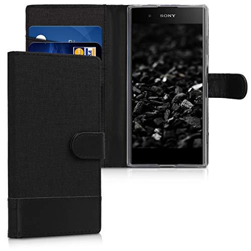 kwmobile Sony Xperia XA1 Plus Hülle - Kunstleder Wallet Case für Sony Xperia XA1 Plus mit Kartenfächern & Stand