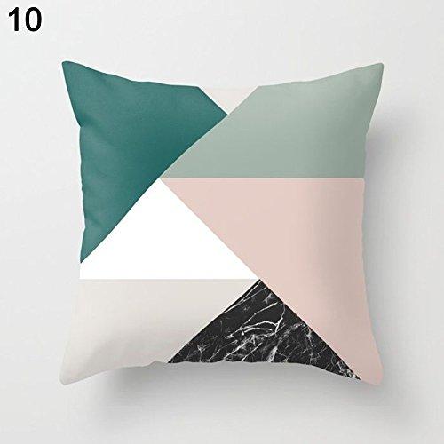 Funda de cojín, Flor, Patrón geométrico, modelo 25Nórdico, combinación Amesii