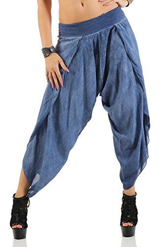 Damen Harem Aladin Pump Hose Hosenrock ( No 540), Blau