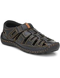 15599f3dddf3 WOODSTONE Alberto LECBAN Men s Brown Leather Sports Sandals for Men