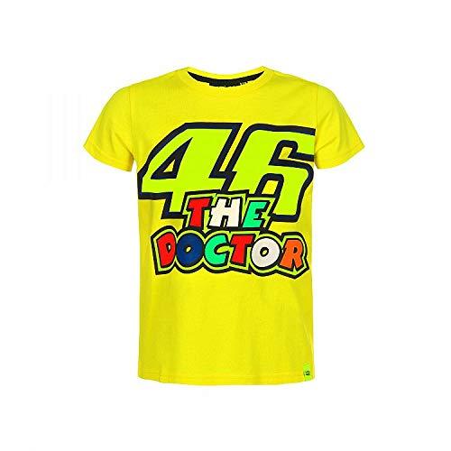 Valentino Rossi Gelb Vr46 Doctor Kinder T-Shirt (6-7 Jahre Alt, Gelb)