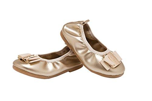 Bomkin Soft Sole Chaussures pour Baby Girl & Princess Anti-slip Casual chaussures de marche pour la robe de soirée or