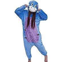Señoras de la mujer hombre adulto Unisex forro polar Animal Onesies–Pijama Ropa Disfraces Halloween