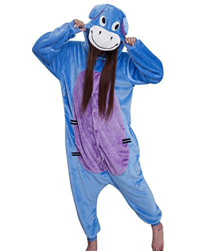 Molly Kigurumi Pijamas Traje Disfraz Animal Adulto Animal Pyjamas Cosplay Homewear Donkey L