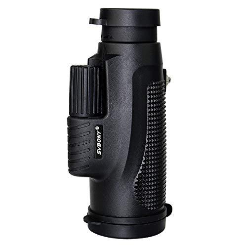 Svbony Monocular 10x42 de Largo Alcance, Monocular Telescopio Impermeable IPX-7, la Mejor Opción para Deportes acuáticos la Observar Las Aves o Vida Silvestre (Negro)