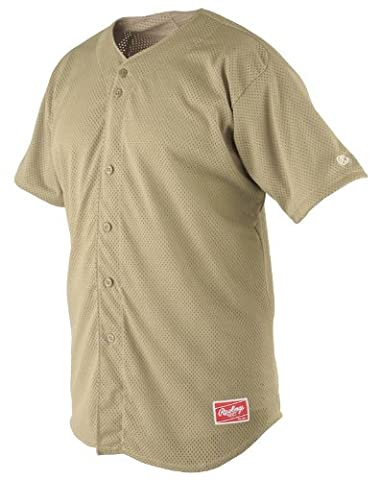 Rawlings Men's Full Button RBJ167 Jersey , Vegas Gold, XX-Large