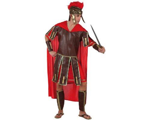 Atosa 96780 - Verkleidung Römischer Krieger, Erwachsene, Größe 50-52, rot