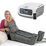 Vein Angel ® 4 Premium Equipo de Presoterapia Profesional con botas y cinta abdominal, 4 cámaras de aire desactivables, presión y tiempo fácilmente configurables, 3 programas
