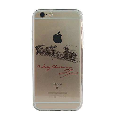 VCOMP® Transparente Silikon TPU Handy Schutzhülle mit Motiv Cartoon Disney für Apple iPhone 5/ 5S/ SE - Winnie the Pooh Heiliger Abend + Mini Eingabestift