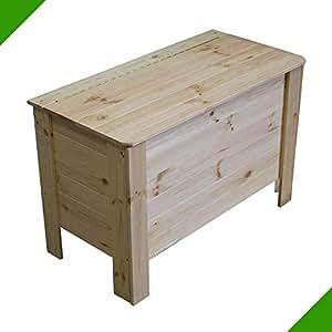 Aufbewahrungskiste Unbehandelt mit Deckel Holztruhe