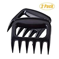 HAUOTCCO Bear Meat Claws BBQ Barbecue Claws Kitchen Claws Barbecue Forks For Shred Pulled Pork Chicken Beef BBQ Meat Shredder (2 Pack)