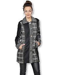 101 IDEES-Chaqueta para mujer con vestido y chaqueta para mujer 3/4, diseño de cifras