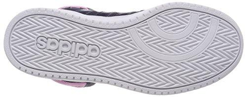 adidas Damen Vs Hoops Mid 2.0 Hohe Sneaker Blau (Collegiate Navy/Collegiate Navy/Footwear White)