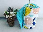 essuie-tout lavable, en coton et éponge,zéro déchet, idée cadeau, motif multifruits, fait main