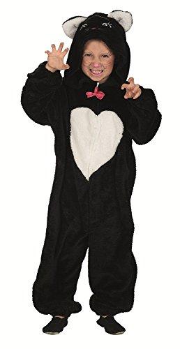 Katzen Kostüm mit Herz für Kinder - Schwarz -