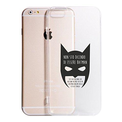 Cover iPhone X-8-8PLUS 6-6 Plus - 6S - 6S Plus - 7-7 Plus - Batman E Me Insieme Trasparente Vari Colori UltraSottili AntiGraffio Antiurto Case Custodia (iPhone X, Trasparente)