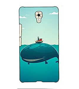 Fuson Designer Back Case Cover for Gionee M6 Plus (Smiling Dolphine theme)