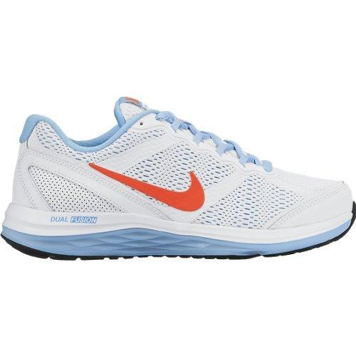 Nike Dual Fusion Run 3 (Gs) Calzatura, Bambina Bianco/Blu/Arancione