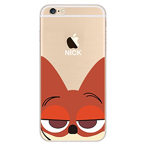 Disney ZOOTOPIA Transparent TPU Soft case for Apple Iphone 5/5S/5SE & 6/6S (APPLE IPHONE 6/6S, NICK)
