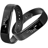 Ghding Fitness Tracker GPS para Correr,Pulsera Intelligent Actividad Bluetooth Monitor de Ritmo Cardiáco,Operación en la Pantalla Puede Control Remoto Fotografía de Tiro para iPhone iOS Android