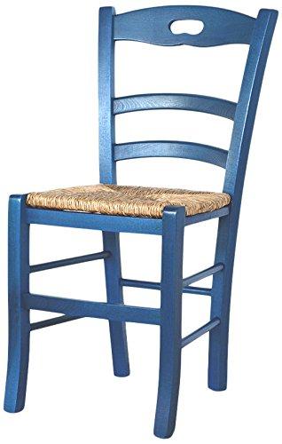 Cribel-Siena-Set-Sedia-Seduta-in-Paglietta-Blu