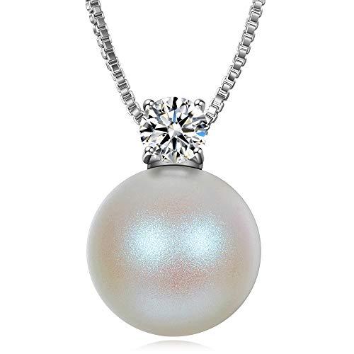 J. RENEÉ Perla Ciondolo con Perla di Swarovski, regalo donna, gioielli donna, collana donna