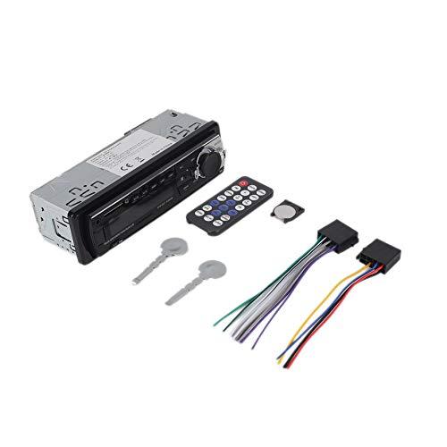 8Eninine 12V 1 DIN JSD-520 Car USB TF Radio MP3 WMA Player with Car Radio Receiver - Black
