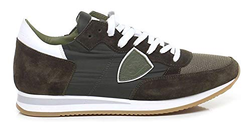 da1aad550b PHILIPPE MODEL PARIS TRLU 1115 Tropez Sneakers Homme Military 44
