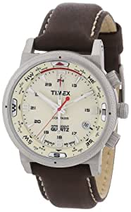 Timex Classic Herren-Armbanduhr XL Expedition E Compass Analog Leder T2N725