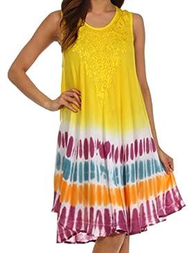 Sakkas multicolore tie dye dal carro armato vestito o cover-up per le donna