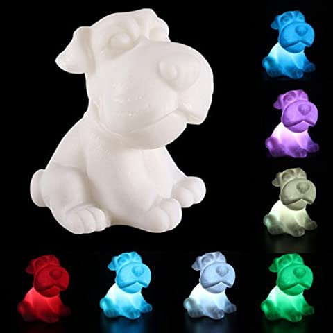 Dog Shape 7 Color Changing LED Lamp Animal Night Light