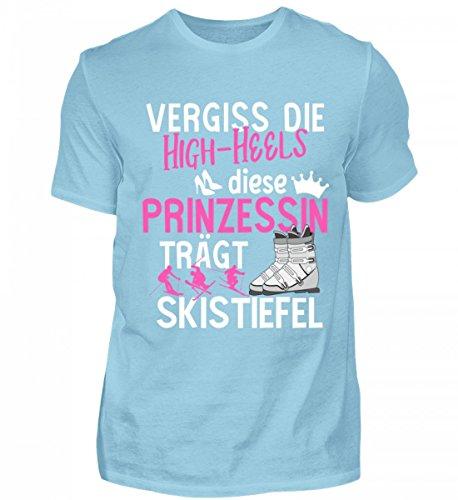 Hochwertiges Herren Premiumshirt - Ski Shirt · Wintersport · Lustiges Geschenk für Ski-Fahrer · Spruch: Prinzessin Skistiefel