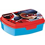 Theonoi Kinder Brotdose / Lunchbox / Sandwichbox wählbar Ladybug Trolls Barbie Kunststoff BPA frei - tolles Geschenk für Mädchen (Ladybug Miracolous)