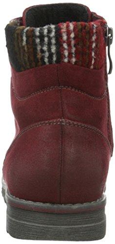 Marco Tozzi 25208, Bottes Classiques Femme Rouge (VINO Antic Com 518)