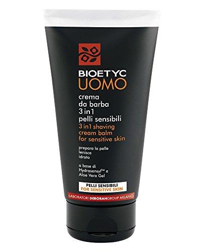 Bioetyc Uomo Crema da Barba 3in1 Pelli Sensibili, 150 ml